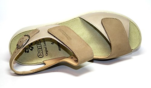 Ganter Hanna 1-203132 Damen Schuhe Sandalen, Weite H Braun (marmor/fango)