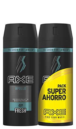Axe Desodorante Apollo Pack Duplo Ahorro - 2 Paquetes de 2 x 150 ml (Total: 600 ml)