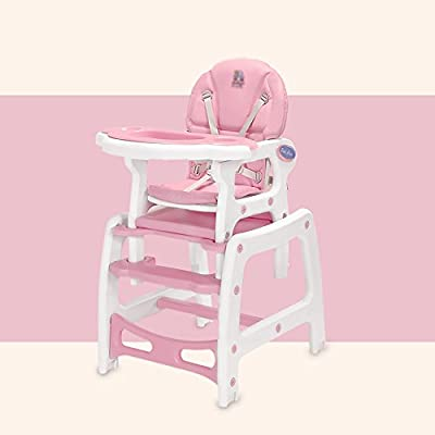 Brisk- Multifunction Children's Dining Chair Baby Dining Table And Chair Meal Seat Home Dining Table Chair Study Table (Color : Milkshake powder)