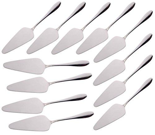 12 Stück Tortenheber-Kuchenheber Set Glänzend STAR-LINE® Ideal für Kuchen Pizzas Obstkuchen Torten Edelstahl Tortenschaufel
