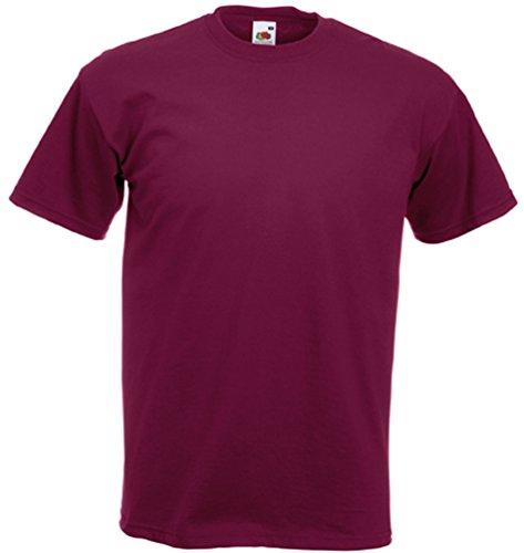 Fruit of the Loom Super Premium T-Shirt Medium,Burgundy
