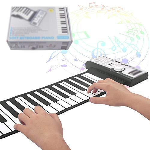 Bewegliche faltbarer Kinder Tastatur-Klavier, Standard 61 Tasten Soft-Tastatur für Lernen der frühen Kindheit Musik Lernspielzeug Geburtstag Weihnachtsgeschenk