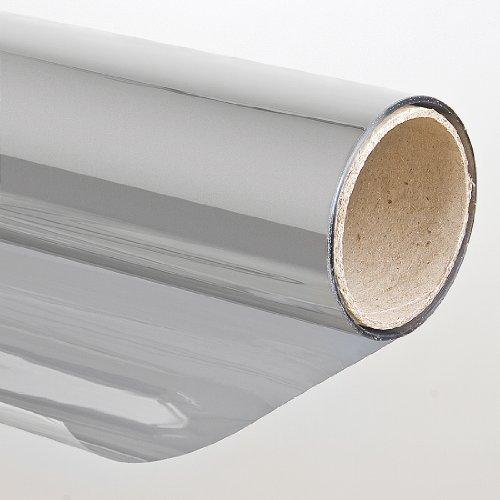 Folien-Gigant Sonnenschutzfolie mit Spiegeleffekt Selbstklebend, 152 x 500 cm, Spiegelfolie Fensterfolie Tönungsfolie Schutzfolie für Fenster, silber, 3001501005