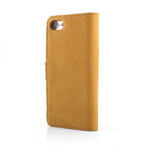 Camel Motiv - Apple iPhone 4 / 4s - Premium Ledertasche Schutzhülle Wallet Case aus Echtesleder mit Kreditkarten / Notizen Fachern und Camel Motiv von Surazo® Leather Kollektion für iPhone 4 / 4s (Cam Camel