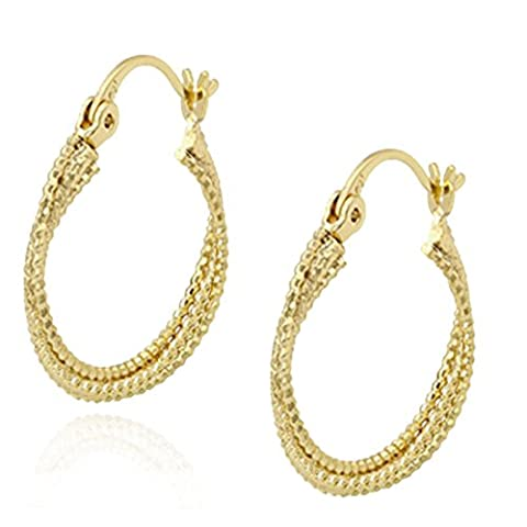 Juvel-Jewelry 14k Gold Plated 3 Circles Earring For Women With New Design
