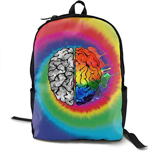 Mochila cerebro colorido