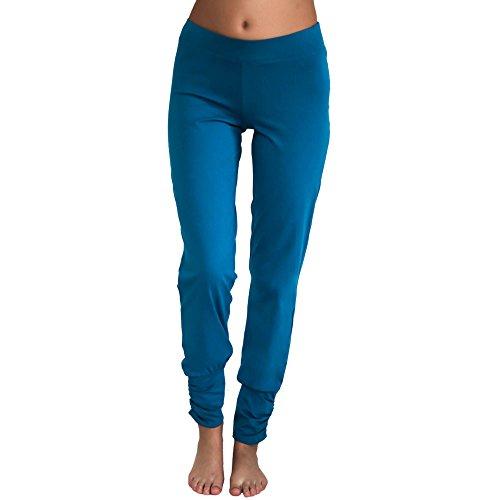 Leela Cotton Damen Freizeit, Yoga Hose Bio-Baumwolle (L, Petrol) Bio-baumwolle-yoga-hosen