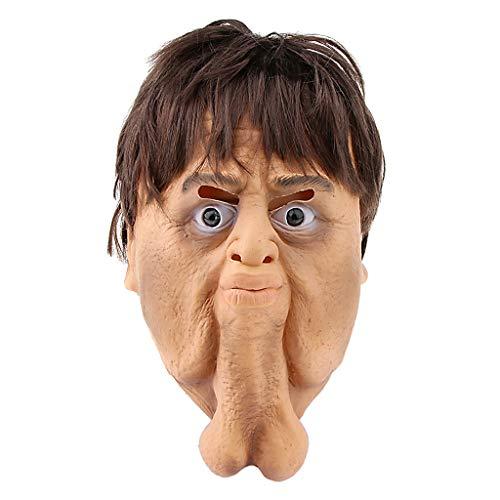 Baoblaze Menschliche Willy Maske Penis Maske Scherzartikel Cosplay Zubehör, aus Latex