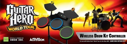 Xbox 360 Guitar Hero World Tour - Stand Alone Drums by Activision (Drum Guitar Hero Xbox)