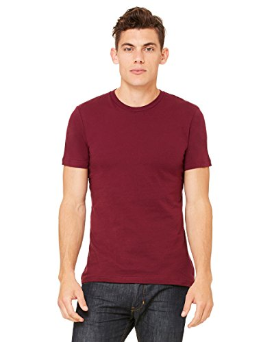 Belowty Bella + Canvas Unisex Jersey Short Sleeve Tee Rot - Maroon