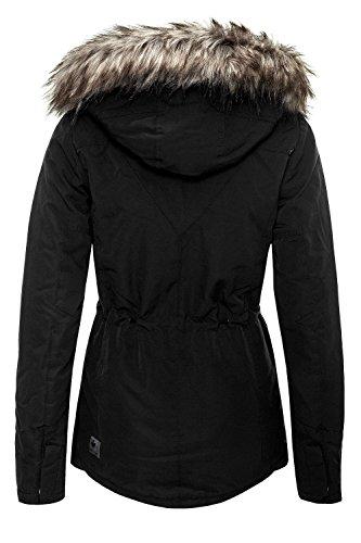 Khujo Damen Winterjacke Parka Kurzmantel Black 200