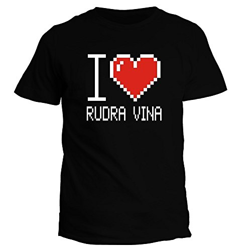Idakoos I love Rudra Vina pixelated - Instrumente - T-Shirt