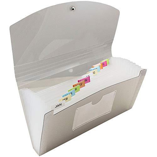 Jam Paper Überprüfen Sie Größe (5 X 10 1/2) Rauchen 13 Pocket Expanding Datei - Einzeln Verkauft