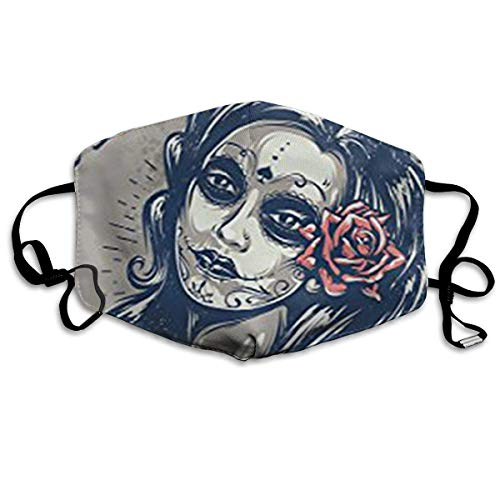 Masken, Masken für Erwachsene, Day Dead Girl Anti-Dust Cotton Mask,Unisex Face Mouth Mask Kids Teens Men Women