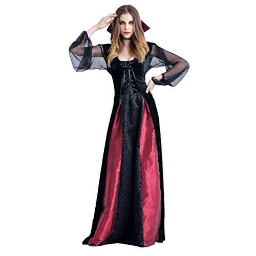 GJKK Kostüme für Erwachsene Halloween Kostüme Cosplay Vampir Hexe Kleid Vintage Gothic Langes Kleid Queen Maxikleider Cosplay für Halloween Party Ostern Weihnachten (Tier Kostüm Wolverine)