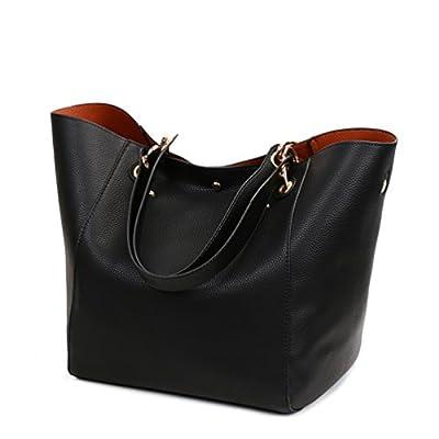 Dexuntong Dame mode sac à bandoulière en cuir Fourre-tout Sac à main Épaule Shopping Sac 12 couleurs