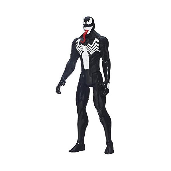"Spider-Man Marvel Ultimate Titan Hero Series–Venom Figura, 12"" 1"