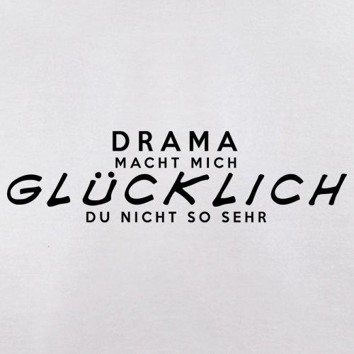 Drama macht mich glücklich - Herren T-Shirt - 13 Farben Weiß