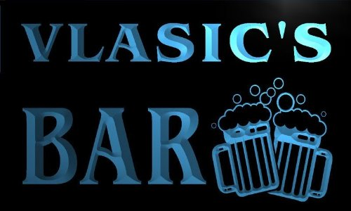 w058251-b-vlasic-name-home-bar-pub-beer-mugs-cheers-neon-light-sign