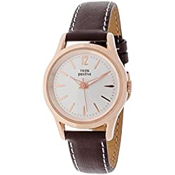 THINKPOSITIVE, Mens watch, Model SE W 130 R Big Milano Rosè, Imitation leather strap, Unisex, Color brown