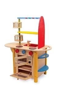 Cucina giocattolo deluxe per bambini in legno, tutto in uno: Amazon ...