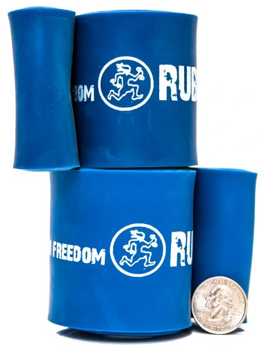 Strong 12 in Rehab/Recovery Band Pair - #6 Blue - 60-150 lb (27-68kg) Resistance Blue Cross Band