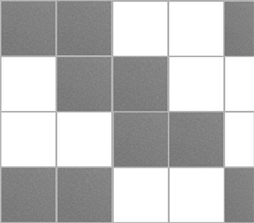 Stickerkoenig Fliesenaufkleber Kacheldekor 20x20cm Badezimmer Küche 20 Stück in matter Farbe: Silber/Mittelgrau