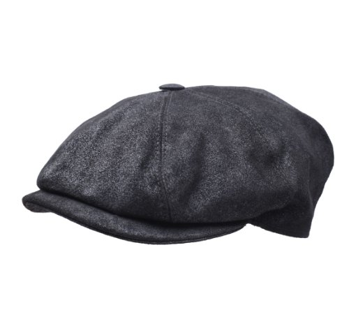 Classic Italy - Boinas - gorra plana cuero hombre Classic Marseillaise Cuir - talla XL - noir
