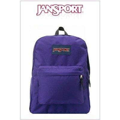 JanSport Superbreak Rucksack Schultasche–Elektrische purple- 4UT