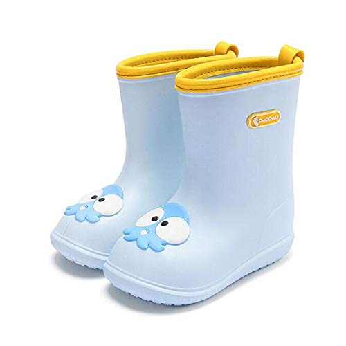 Rain Boots For Kids Infant Kids Rain Shoes Waterproof Non-slip Wellington Boots Sole Baby Infant Toddler Rain Shoes Boys Girls Ultra Light And Comfortable EVA Material(10 Colors Available)
