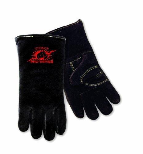 Steiner 2600B Welding Gloves, Black SPS B-Series, Side Split Cowhide, Foam Lined, Large by Steiner -
