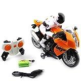 motorrad spielzeug kinder, 2.4GHz ABS RC Motorbike funkferngesteuertes Motorrad Geeignet für über 4 Jahre kinder - Quiet.T