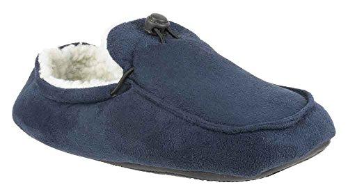 Mirak Dougie-dérapant sur Chaussons pour homme-Bleu marine-Doublure en Textile Bleu - Bleu marine