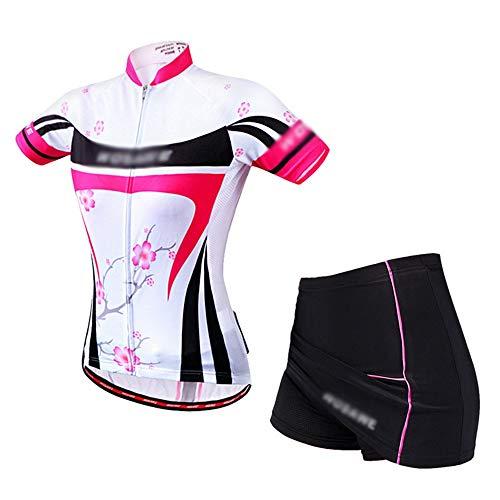 JOYIYUAN Mountainbike-Reitrockanzug, Kurzärmliges Hemd, EIN Hosenrock, Atmungsaktives Silikonkissen (Farbe : BC176+BC271, Size : XL) -