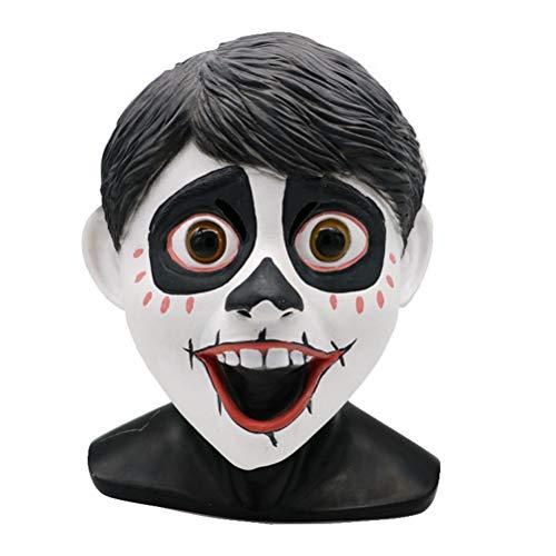 Halloween Kostüm Maske Disney COS Maske Für Dekoration/Sammlung, Coco (Farbe : Miguel, größe : M)