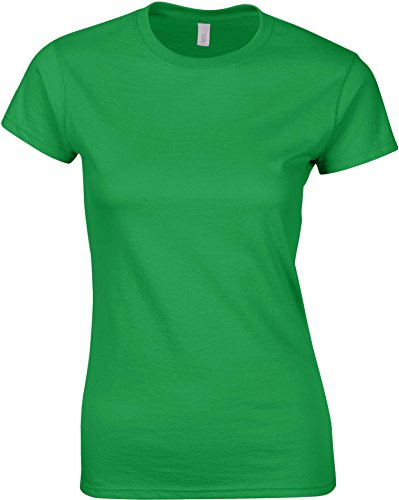 Gildan Softstyle ™ Frauen ringgesponnene T-Shirt Irish Grün M (Irish T-shirt)