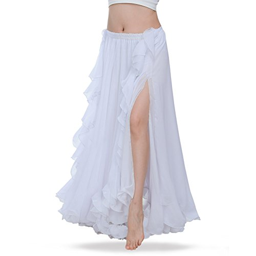 ROYAL SMEELA Gute Qualität Neues Damen Bauchtanz Rock Kostüm Tanzen Ausbildung Chiffon Röcke Kleid Performance - Eine Gute Kostüm