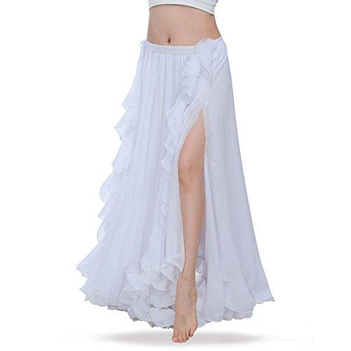 ROYAL SMEELA Gute Qualität Neues Damen Bauchtanz Rock Kostüm Tanzen Ausbildung Chiffon Röcke Kleid Performance Bekleidung - Chiffon-bauchtanz-kleid