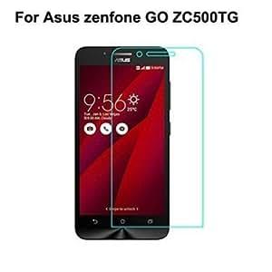 Zenfone Go Transparent Back Cover + Tempered Glass
