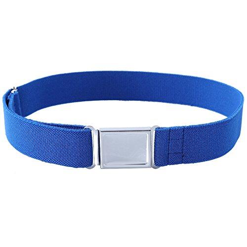 Kajeer Gürtel für Jungen Mädchen Verstellbar - Großer Elastischer Stretchgürtel mit einfacher Magnetschnalle für 2-15 jährige Jungen und Mädchen (Königsblau) - Individuelle Kaffee-pakete