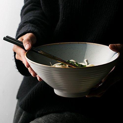 Bol en céramique rétro Bol à soupe Ramen créatif Bol à salade de fruits de 7 pouces Bol à grande capacité Ramen