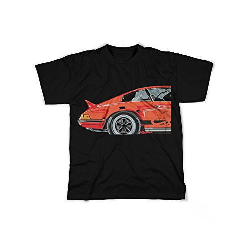 Männer T-Shirt mit Aufdruck in Schwarz Gr. XXXL Sportwagen Tuning Stuttgart Design Boy Top Junge Shirt Herren Basic 100% Baumwolle Kurzarm