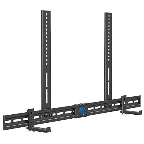 Mounting Dream Universal Soundbar Halterung für Soundbars mit/ohne Montageloch, kompatibel mit SONOS Beam, mit Anti-Rutsch-Sockelhalter (87.5-154mm), an TV-Halterung, Wand oder Fernseher montieren