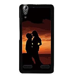 PrintVisa Married Couple Scene High Glossy Designer Back Case Cover for Lenovo A6000 Plus :: Lenovo A6000+ :: Lenovo A6000