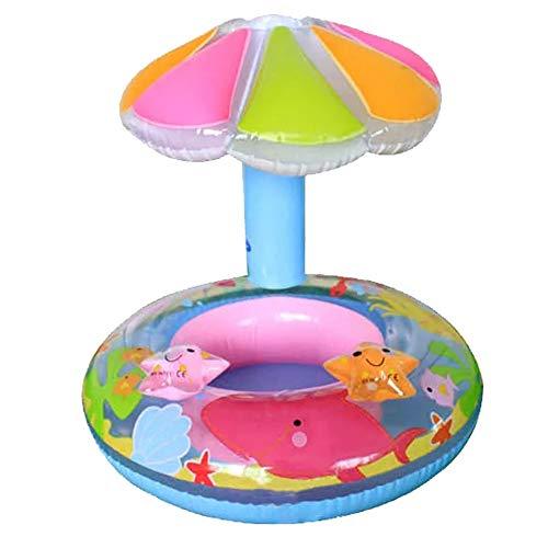 Kleine Kinder Aufblasbare Schwimmen Ring Sommer-Schwimmen-Ring-Baby-Schwimmbecken Wasser Float Sitz Mit Sonnenschutz