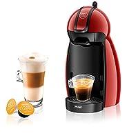 Nescafe Piccolo EDG 200.R Dolce Gusto Single Serve Coffee Maker and Espresso Machine by De'Longhi - Red