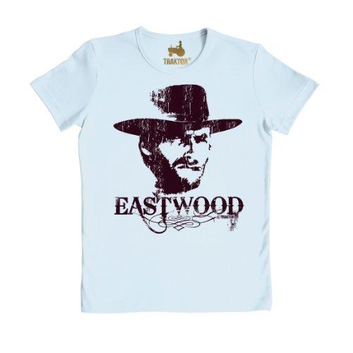 owboy T-Shirt - Film T-Shirt - blau - Rundhals T-Shirt - Original Marke TRAKTOR®, Größe M (Clint Eastwood Cowboy Kostüme)