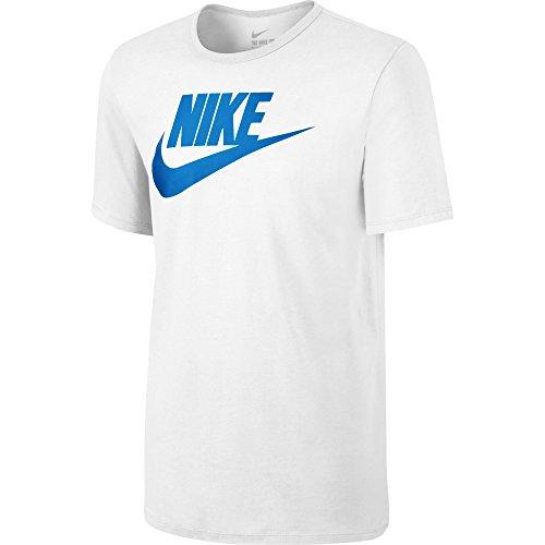 Nike-Tee Futura Icon, Maglietta Uomo, Bianco, Large