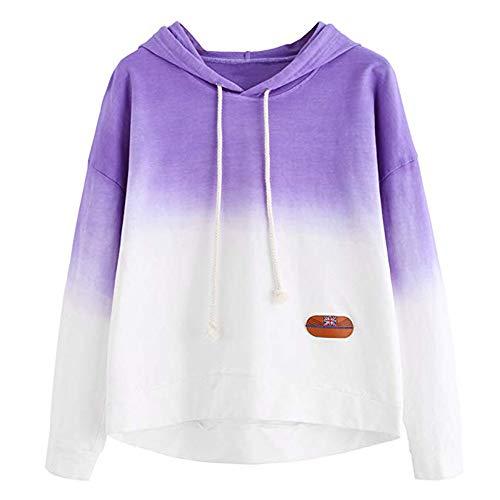 ELECTRI Femmes Sweatshirt Imprimé à Manche Longue,Dames Femme Sweat À Capuche Impression d'expression Hiver À Manches Longues Chic Fille Pull Sweatshirt