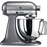 KitchenAid 5KSM125BCU Artisan Food Stand Mixer 300W 4.8 Litre Bowl Silver